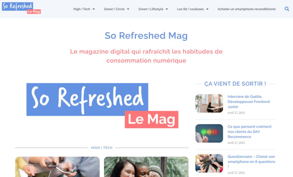 So refreshed Mag blog de Recommerce